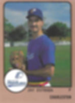 1989 charleston rainbows minor league baseball Jay Estrada Pitcher