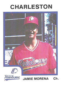 Jamie Morena 1987 charleston rainbows minor league baseball