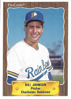 1990 charleston rainbows minor league baseball player Bill Johnson Pitcher