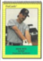 1991 charleston rainbows minor league baseball player brian beck outfield