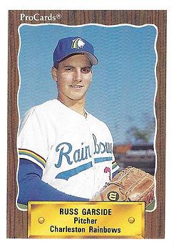 1990 charleston rainbows minor league baseball playerRuss Garside Pitcher