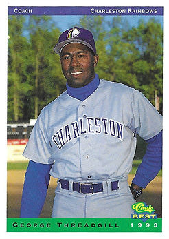 charleston rainbows 1993 minor league baseball card player George Threadgill Coach manager