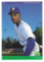 charleston rainbows 1993 minor league baseball card player Paulino Perez pitcher