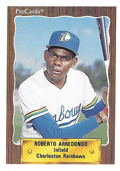 1990 charleston rainbows minor league baseball player Roberto Arrendondo