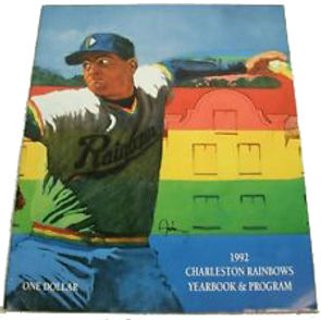 1992 charleston rainbows minor league baseball program