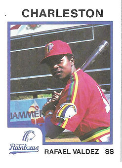 Rafael Valdez Baseball 1987 charleston rainbows minor league baseball