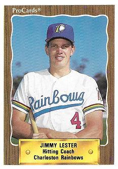 1990 charleston rainbows minor league baseball player Jimmy Lester Hitting Coach