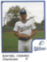 Rafael Chaves Pitcher1986 Charleston rainbows minor league baseball