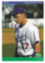 charleston rainbows 1993 minor league baseball card player Scott Malone OF 1B