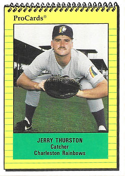 1991 charleston rainbows minor league baseball player jerry thurston catcher