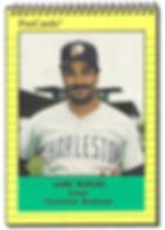 1991 charleston rainbows minor league baseball player Jaime Moreno Coach