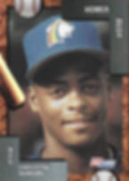 charleston rainbows 1992 minor league baseball card player Homer Bush IF