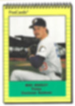 1991 charleston rainbows minor league baseball player Mike Bradley Pitcher