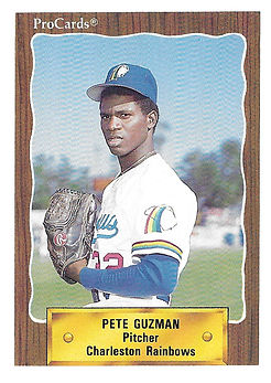 1990 charleston rainbows minor league baseball player Pete Guzman