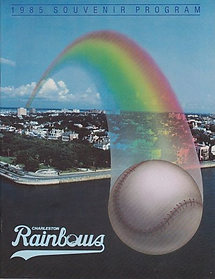 1985 charleston rainbows minor league baseball program