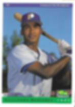 charleston rainbows 1993 minor league baseball card player Guillermo Mercedes SS shortstop