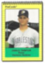 1991 charleston rainbows minor league baseball player charles thompson pitcher