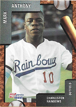 charleston rainbows 1992 minor league baseball card player Mark Anthony OF