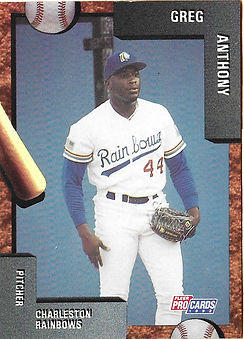 charleston rainbows 1992 minor league baseball card player Greg Anthony Pitcher