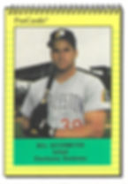1991 charleston rainbows minor league baseball player bill ostermeyer infield
