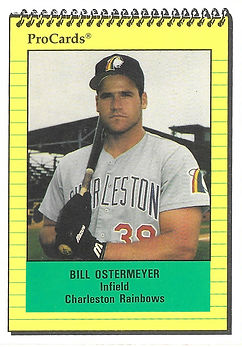 1991 charleston rainbows minor league baseball player bill ostermeyer infield
