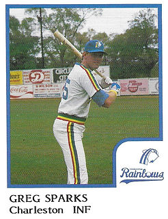 Greg Sparks Baseball1986 Charleston rainbows minor league baseball