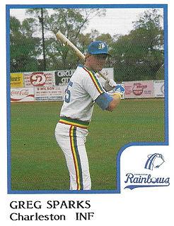 Greg Sparks Baseball1986 Charleston rainbows minor league baseball