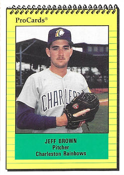 1991 charleston rainbows minor league baseball player Jeff Brown Pitcher