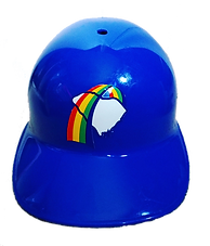 charleston rainbows baseball ice cream helmet