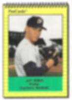 1991 charleston rainbows minor league baseball player Jeff Huber Infield