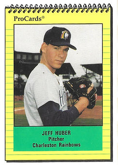 1991 charleston rainbows minor league baseball player Jeff Huber Infield