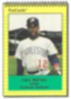 1991 charleston rainbows minor league baseball player Pablo Martinez   Infield