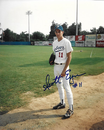 scott eyre autographed photo charleston rainbows 1993