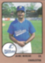 1989 charleston rainbows minor league baseball Jaime Moreno Coach
