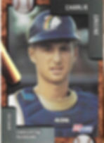 charleston rainbows 1992 minor league baseball card player Charlie Greene Catcher