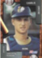 charleston rainbows 1992 minor league baseball card player Charlie Greene Catcher