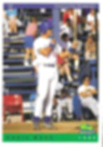 charleston rainbows 1993 minor league baseball card player Chris Burr 1B