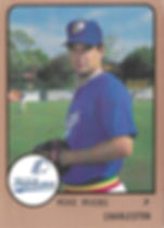 Mike Myers1989 charleston rainbows minor league baseball Pitcher