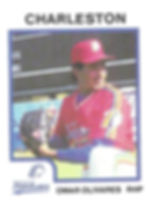 Omar Olivares Pitcher 1987 charleston rainbows minor league baseball