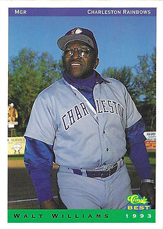 charleston rainbows 1993 minor league baseball card player manager Walt Williams mgr coach