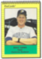 1991 charleston rainbows minor league baseball player Bruce Tanner Coach