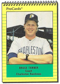 1991 charleston rainbows minor league baseball player Bruce Tanner Coach