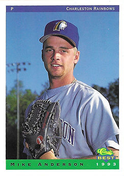 charleston rainbows 1993 minor league baseball card player Mike Anderson Pitcher