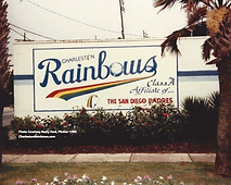 rainbows stadium logo mural