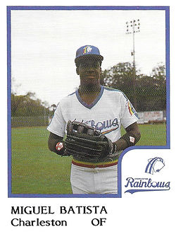 Miguel Batista Baseball1986 Charleston rainbows minor league baseball