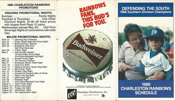 rainbows baseball schedule