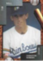 charleston rainbows 1992 minor league baseball card player Tim Hall Catcher
