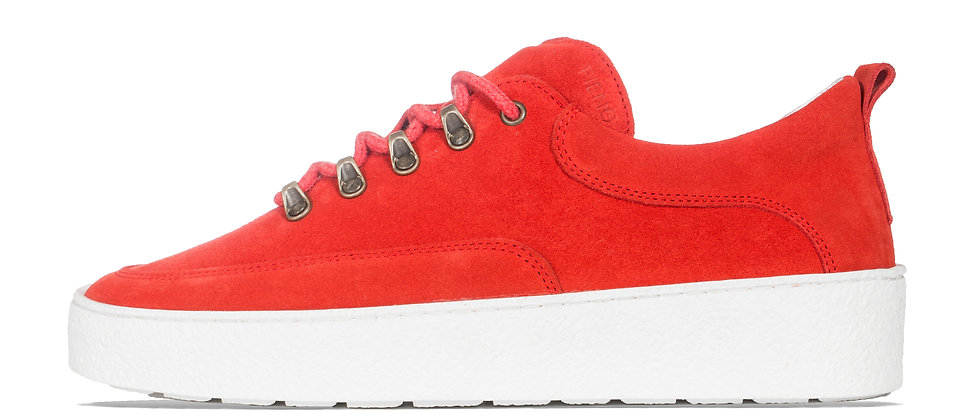 LOW WES RED SUEDE