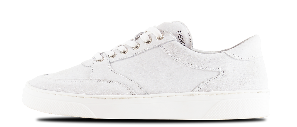 LOW TRAINER WHITE SUEDE