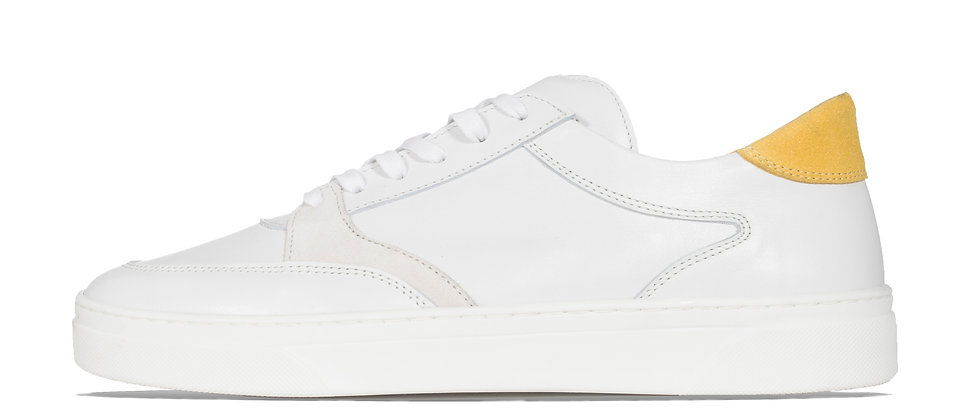 LOW TRAINER WHITE/YELLOW